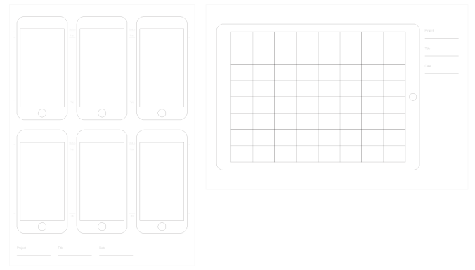 iphone 5 and ipad pro wireframe - Wireframe Ipad